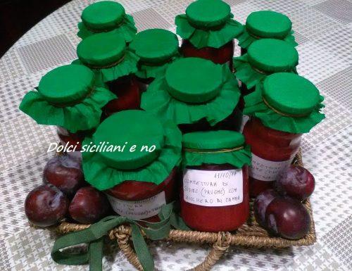 Confettura di susine rosse ( prugne )