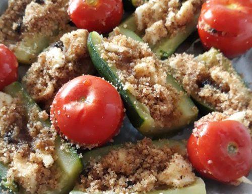 Pomodori e zucchine genovesi ripiene al forno