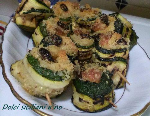 Involtini di zucchine genovesi al forno