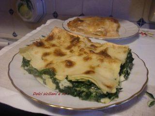 Lasagne al forno con spinaci e stracchino