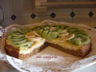 Cheese cake cotta con frutta fresca